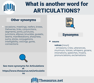 articulations, synonym articulations, another word for articulations, words like articulations, thesaurus articulations