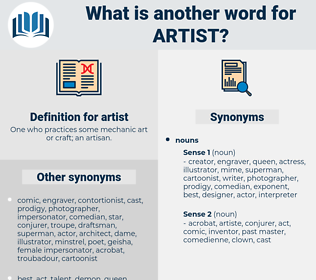 artist, synonym artist, another word for artist, words like artist, thesaurus artist