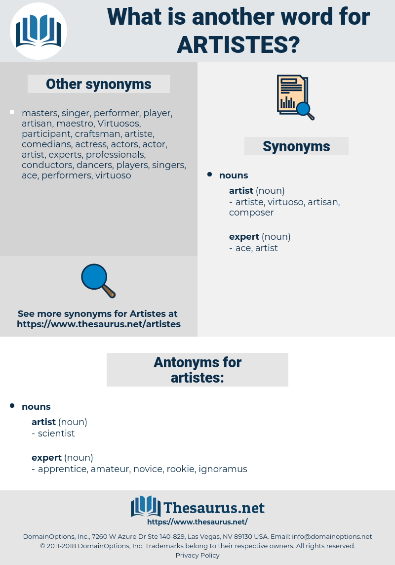 artistes, synonym artistes, another word for artistes, words like artistes, thesaurus artistes