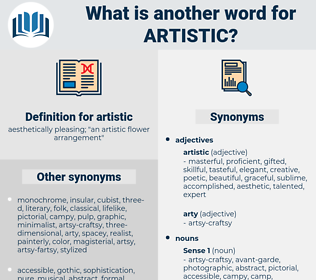 artistic, synonym artistic, another word for artistic, words like artistic, thesaurus artistic