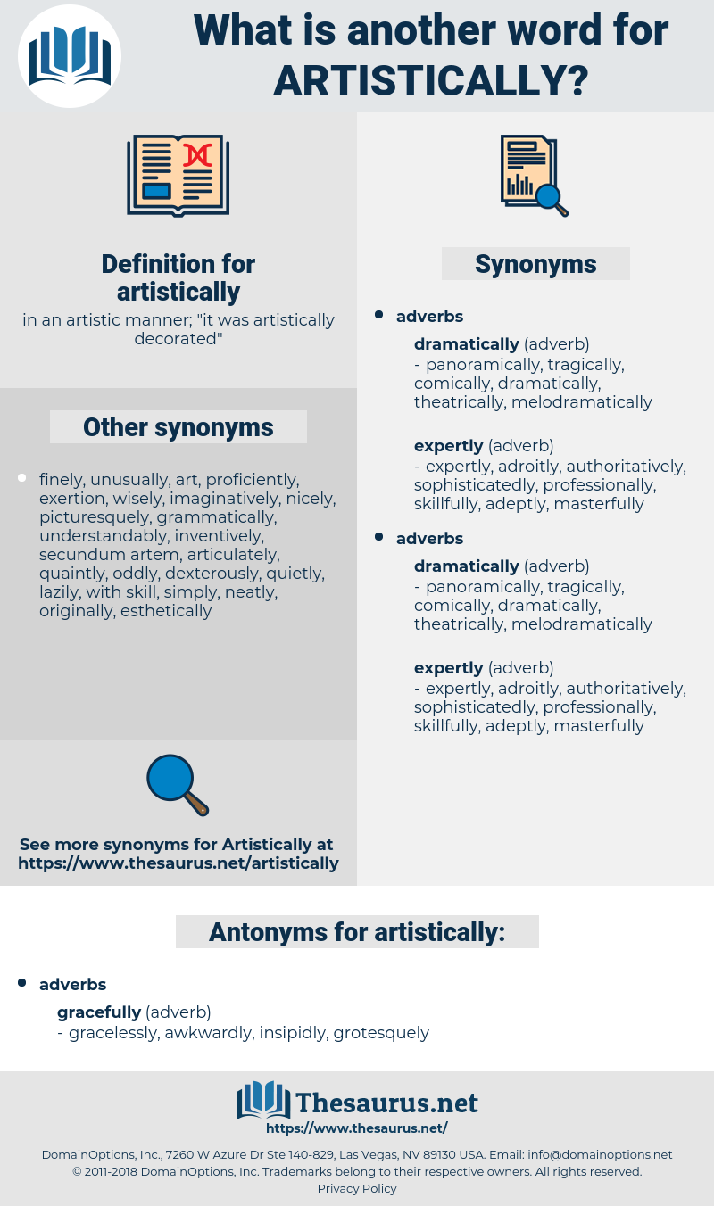 artistically, synonym artistically, another word for artistically, words like artistically, thesaurus artistically