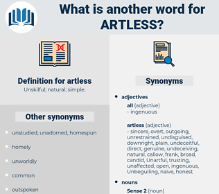 artless, synonym artless, another word for artless, words like artless, thesaurus artless