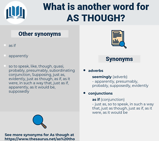 as though, synonym as though, another word for as though, words like as though, thesaurus as though