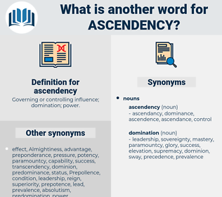 ascendency, synonym ascendency, another word for ascendency, words like ascendency, thesaurus ascendency