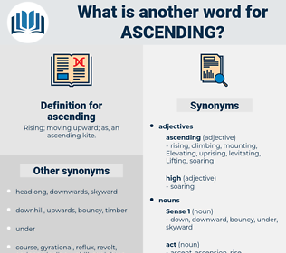 ascending, synonym ascending, another word for ascending, words like ascending, thesaurus ascending