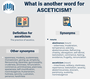 asceticism, synonym asceticism, another word for asceticism, words like asceticism, thesaurus asceticism