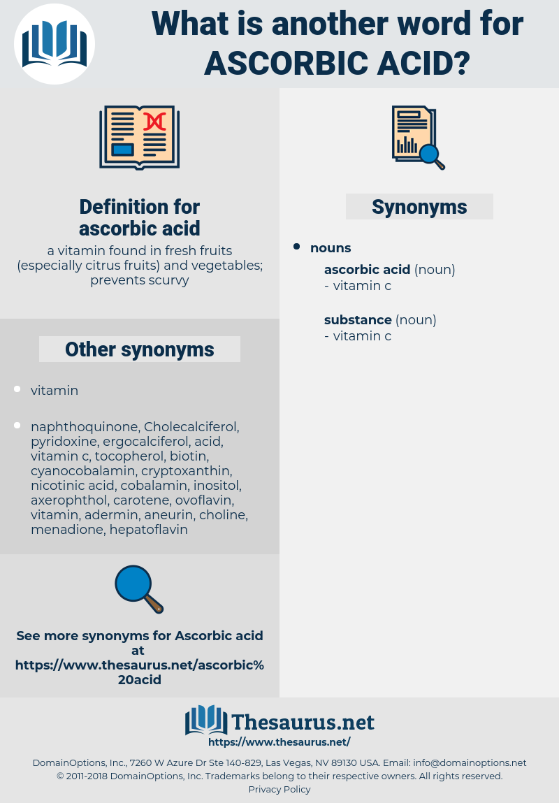 ascorbic acid, synonym ascorbic acid, another word for ascorbic acid, words like ascorbic acid, thesaurus ascorbic acid