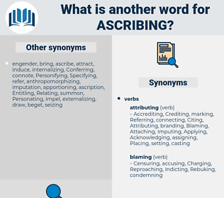 Ascribing, synonym Ascribing, another word for Ascribing, words like Ascribing, thesaurus Ascribing