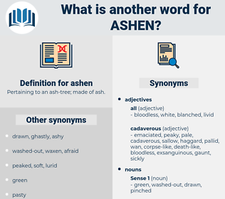 ashen, synonym ashen, another word for ashen, words like ashen, thesaurus ashen