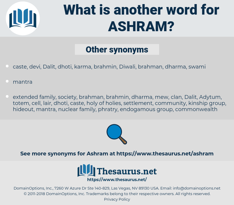 ashram, synonym ashram, another word for ashram, words like ashram, thesaurus ashram