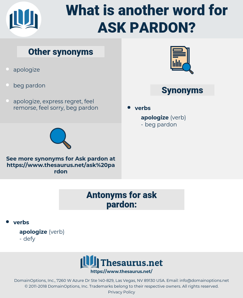 ask pardon, synonym ask pardon, another word for ask pardon, words like ask pardon, thesaurus ask pardon