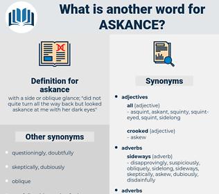 askance, synonym askance, another word for askance, words like askance, thesaurus askance