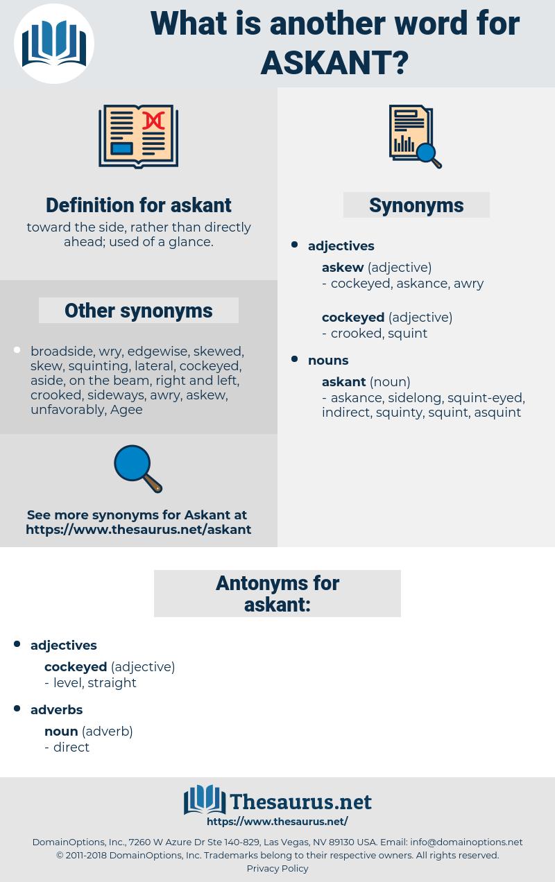 askant, synonym askant, another word for askant, words like askant, thesaurus askant