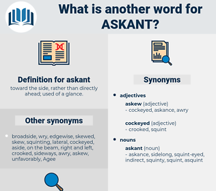 askant, synonym askant, another word for askant, words like askant, thesaurus askant