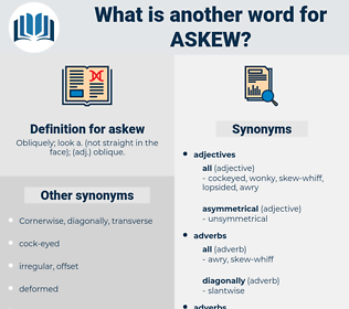 askew, synonym askew, another word for askew, words like askew, thesaurus askew