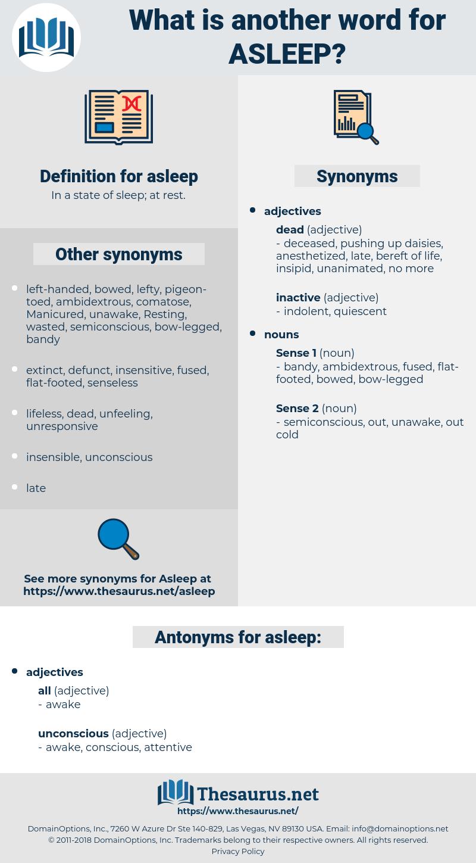 asleep, synonym asleep, another word for asleep, words like asleep, thesaurus asleep