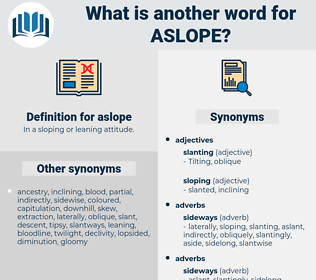 aslope, synonym aslope, another word for aslope, words like aslope, thesaurus aslope