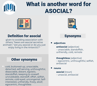 asocial, synonym asocial, another word for asocial, words like asocial, thesaurus asocial
