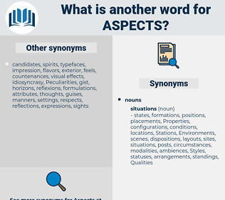 aspects, synonym aspects, another word for aspects, words like aspects, thesaurus aspects
