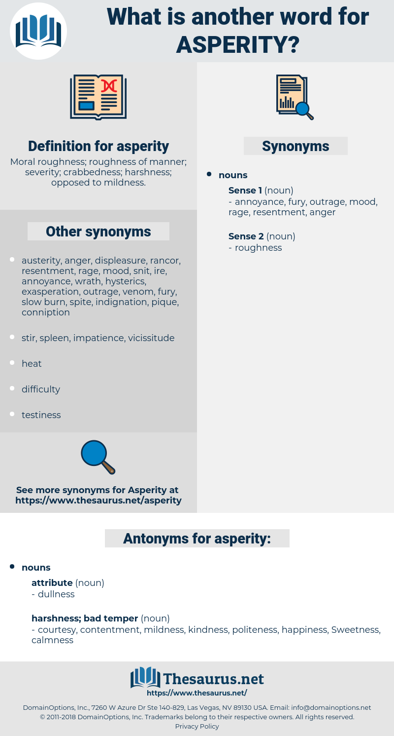 asperity, synonym asperity, another word for asperity, words like asperity, thesaurus asperity