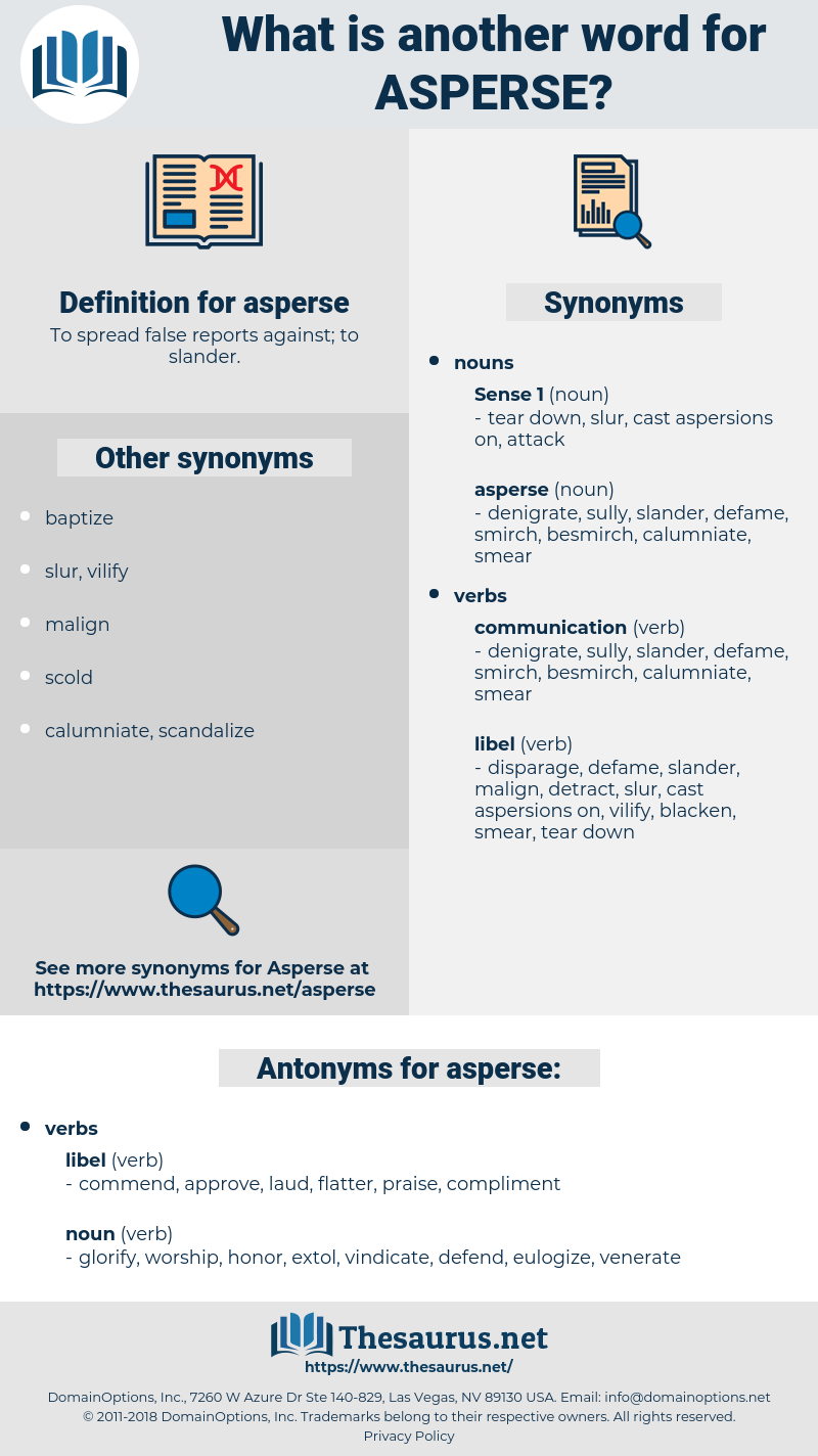 asperse, synonym asperse, another word for asperse, words like asperse, thesaurus asperse