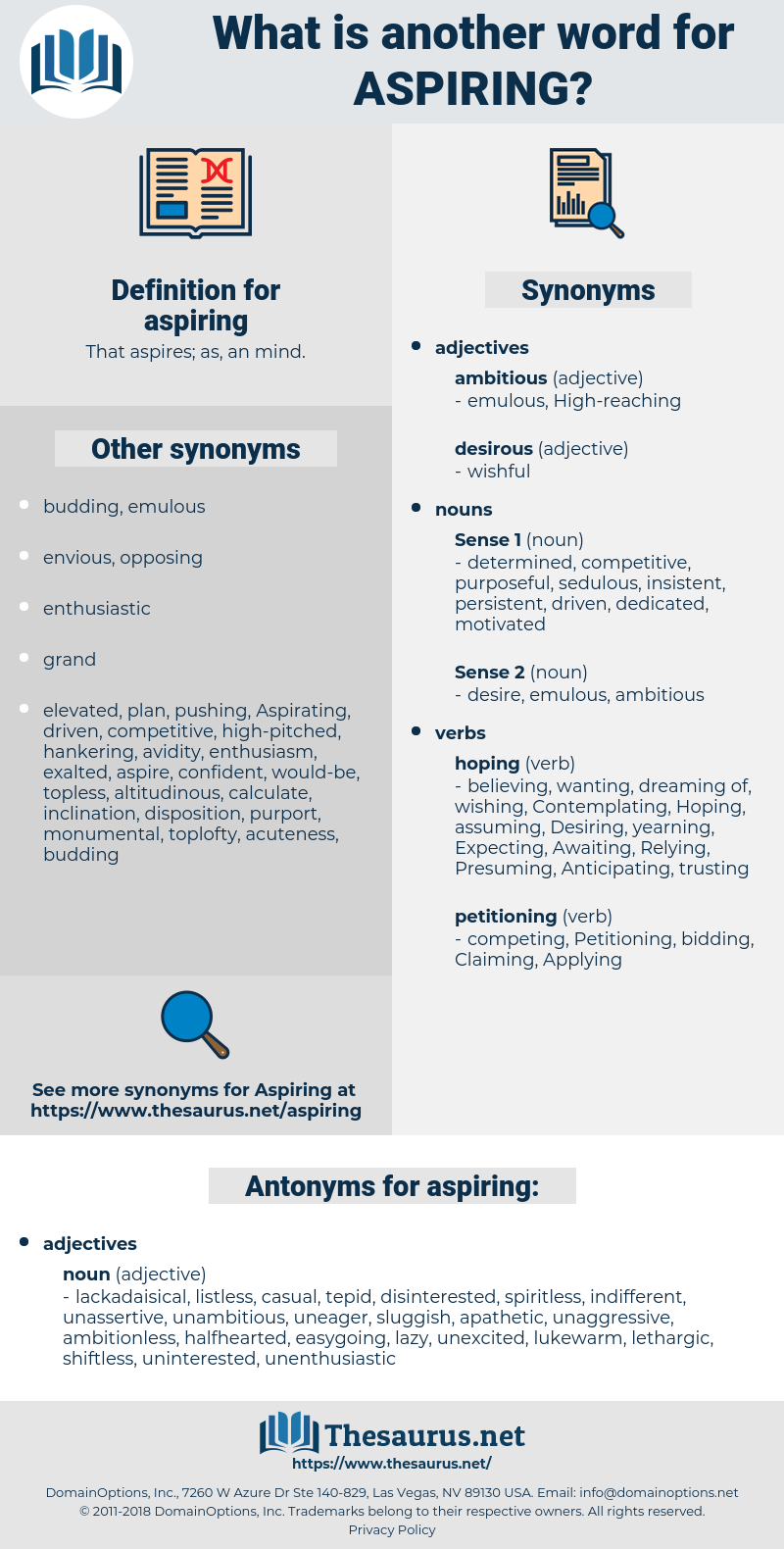 aspiring, synonym aspiring, another word for aspiring, words like aspiring, thesaurus aspiring