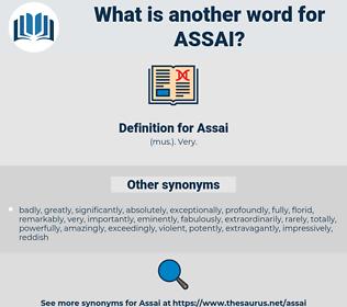 Assai, synonym Assai, another word for Assai, words like Assai, thesaurus Assai