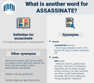 assassinate, synonym assassinate, another word for assassinate, words like assassinate, thesaurus assassinate