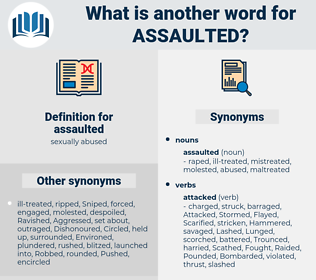 assaulted, synonym assaulted, another word for assaulted, words like assaulted, thesaurus assaulted
