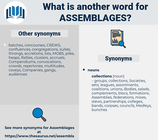 assemblages, synonym assemblages, another word for assemblages, words like assemblages, thesaurus assemblages