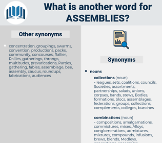 Assemblies, synonym Assemblies, another word for Assemblies, words like Assemblies, thesaurus Assemblies