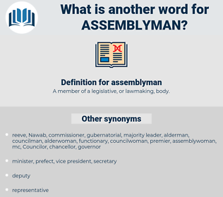 assemblyman, synonym assemblyman, another word for assemblyman, words like assemblyman, thesaurus assemblyman