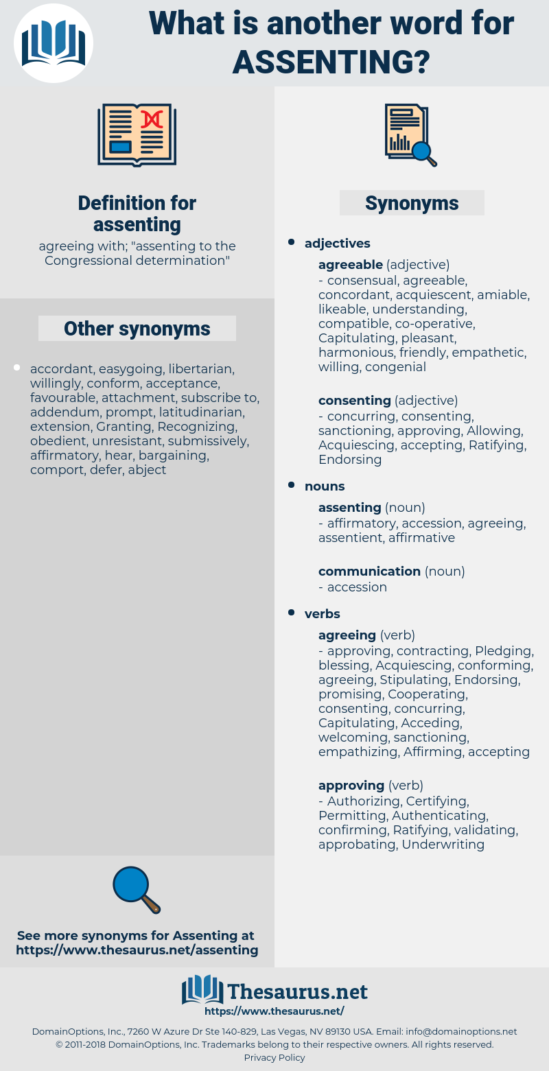 assenting, synonym assenting, another word for assenting, words like assenting, thesaurus assenting