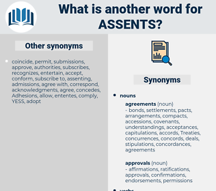 assents, synonym assents, another word for assents, words like assents, thesaurus assents