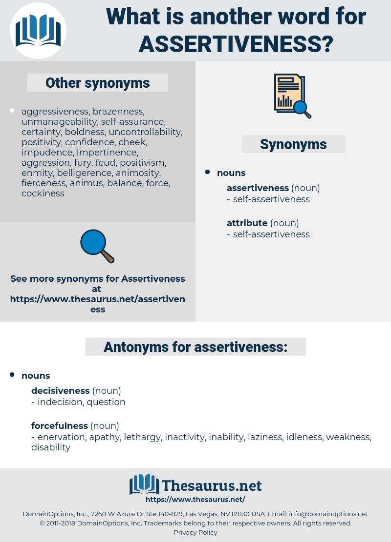 assertiveness, synonym assertiveness, another word for assertiveness, words like assertiveness, thesaurus assertiveness