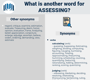 Assessing, synonym Assessing, another word for Assessing, words like Assessing, thesaurus Assessing