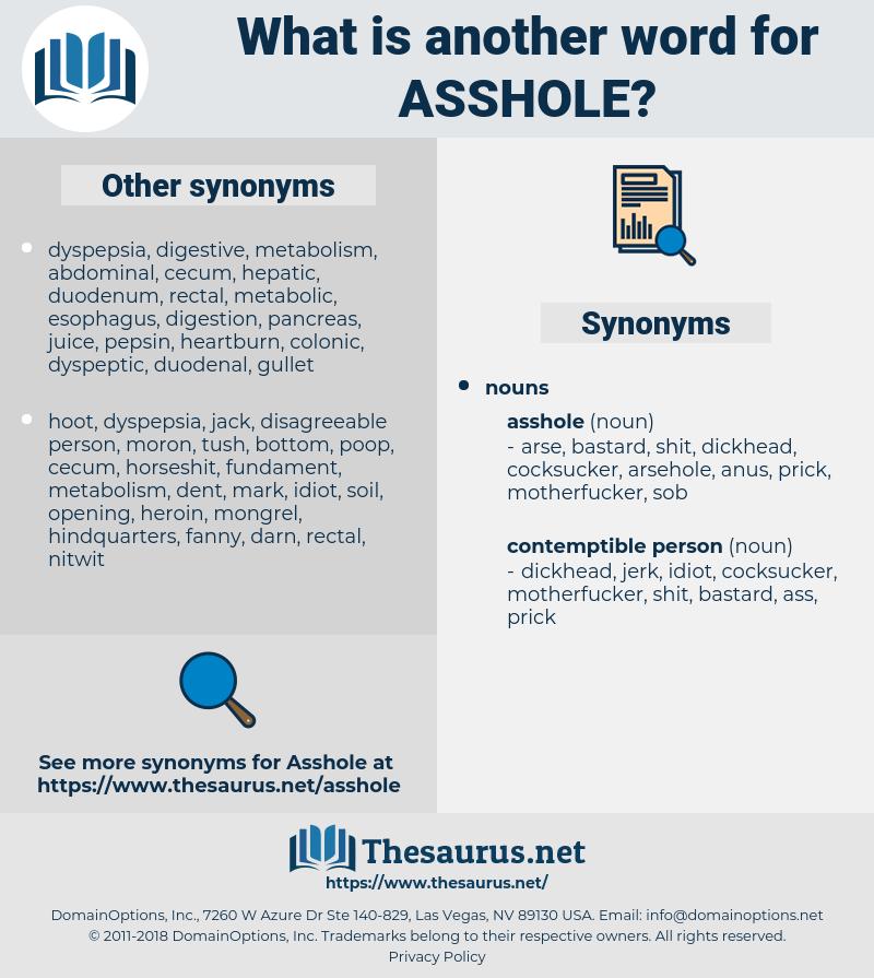 asshole, synonym asshole, another word for asshole, words like asshole, thesaurus asshole