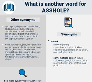 asshole, synonym asshole, another word for asshole, words like asshole, thesaurus asshole