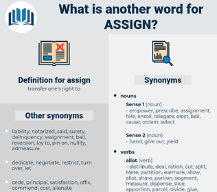 assign, synonym assign, another word for assign, words like assign, thesaurus assign