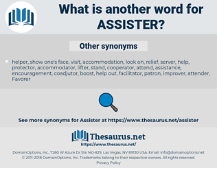 Assister, synonym Assister, another word for Assister, words like Assister, thesaurus Assister