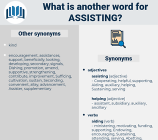 Assisting, synonym Assisting, another word for Assisting, words like Assisting, thesaurus Assisting
