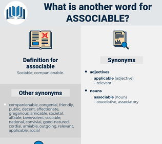 associable, synonym associable, another word for associable, words like associable, thesaurus associable