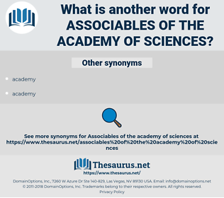 associables of the academy of sciences, synonym associables of the academy of sciences, another word for associables of the academy of sciences, words like associables of the academy of sciences, thesaurus associables of the academy of sciences