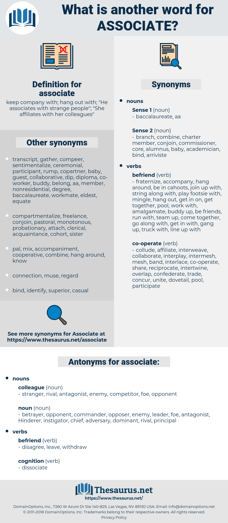 associate, synonym associate, another word for associate, words like associate, thesaurus associate