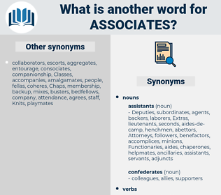 associates, synonym associates, another word for associates, words like associates, thesaurus associates