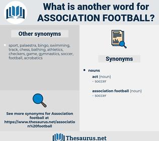 association football, synonym association football, another word for association football, words like association football, thesaurus association football