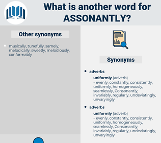 assonantly, synonym assonantly, another word for assonantly, words like assonantly, thesaurus assonantly