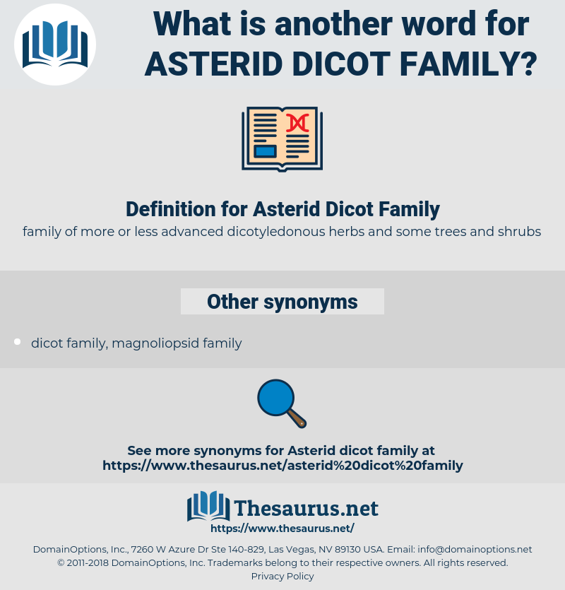 Asterid Dicot Family, synonym Asterid Dicot Family, another word for Asterid Dicot Family, words like Asterid Dicot Family, thesaurus Asterid Dicot Family