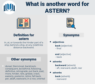 astern, synonym astern, another word for astern, words like astern, thesaurus astern