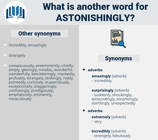 astonishingly, synonym astonishingly, another word for astonishingly, words like astonishingly, thesaurus astonishingly